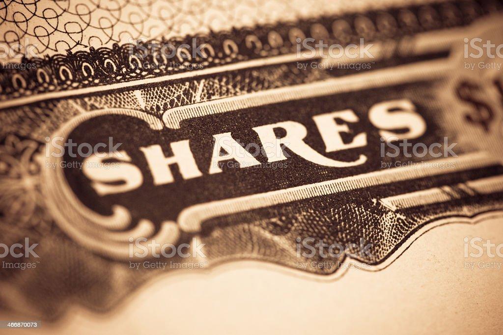 Shares stock photo