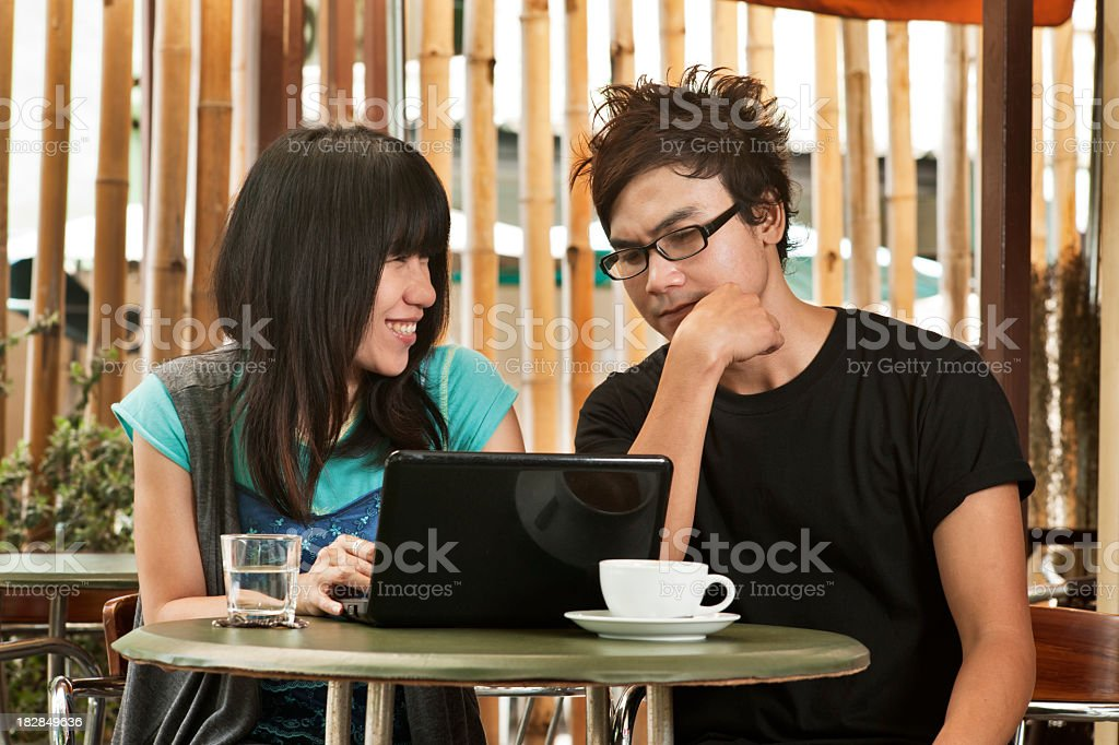 Sharing a coffee Break royalty-free stock photo