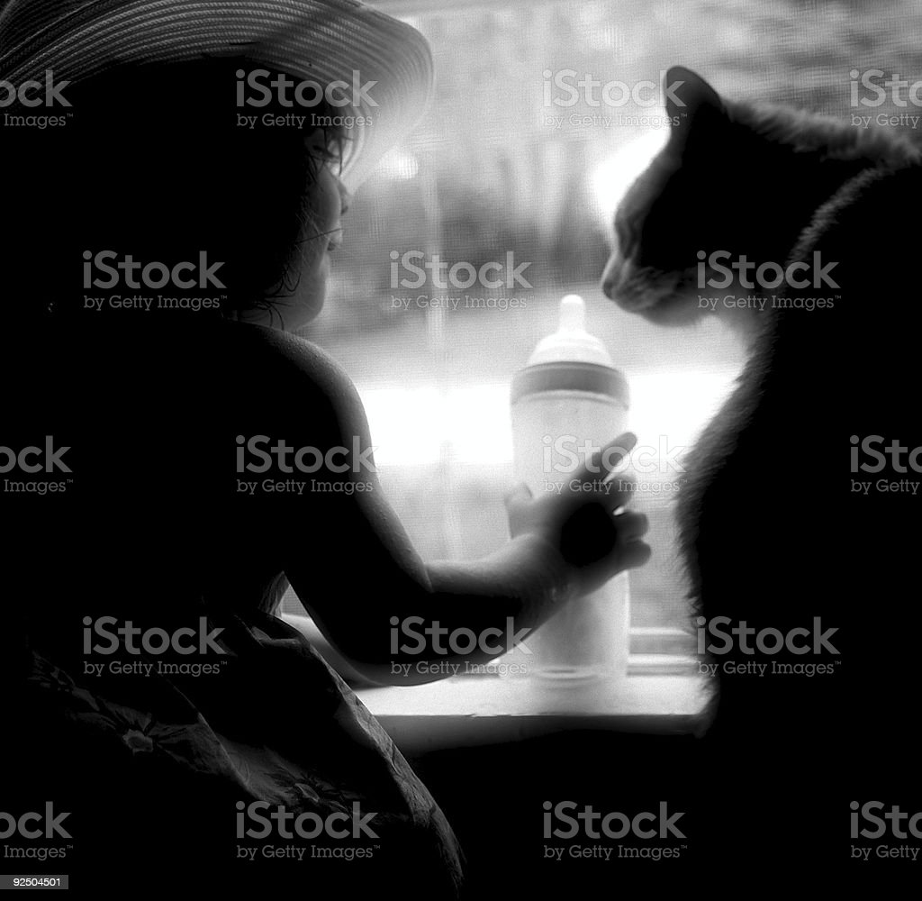 Sharing A Drink royalty-free stock photo