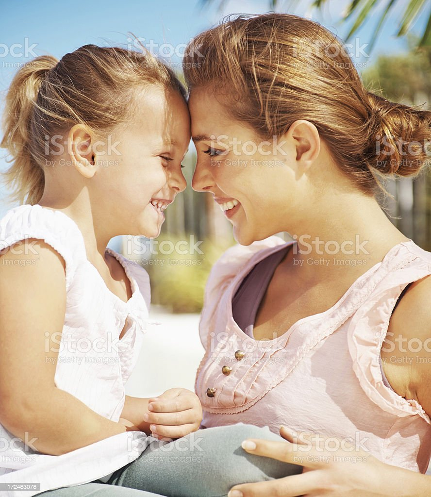 Sharing a special moment royalty-free stock photo