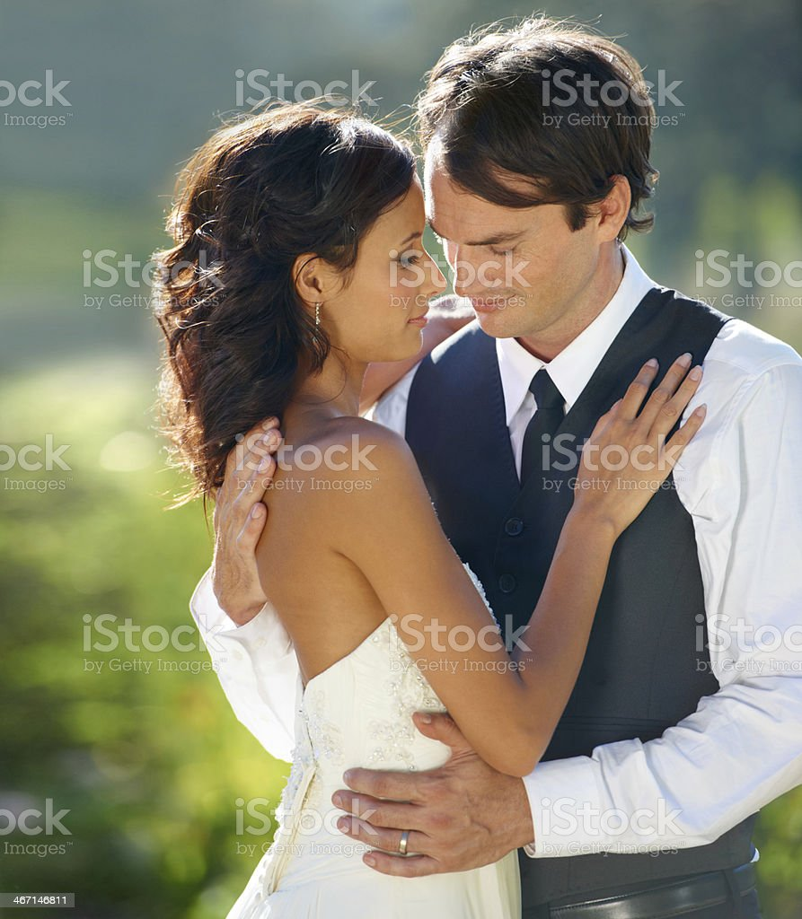 Sharing a tender moment royalty-free stock photo