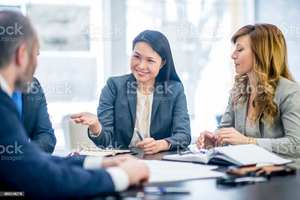 Sharing Business Ideas royalty-free stock photo