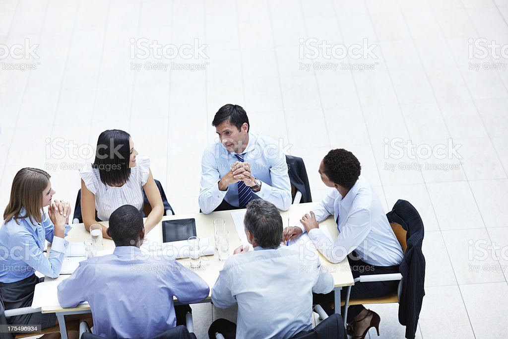 Sharing corporate concepts royalty-free stock photo