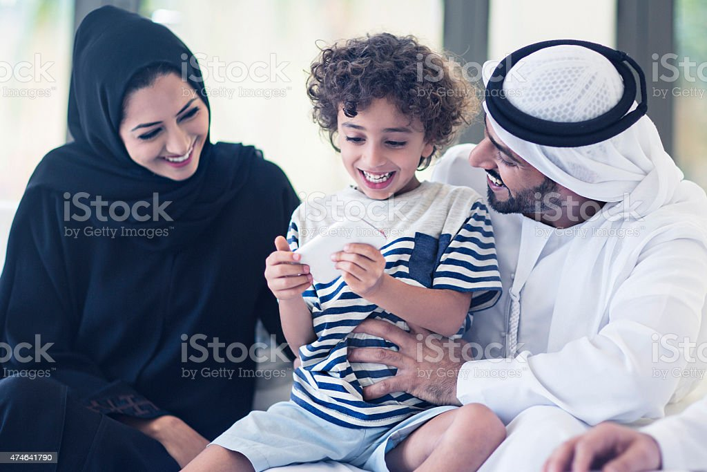 Sharing family quality time stock photo
