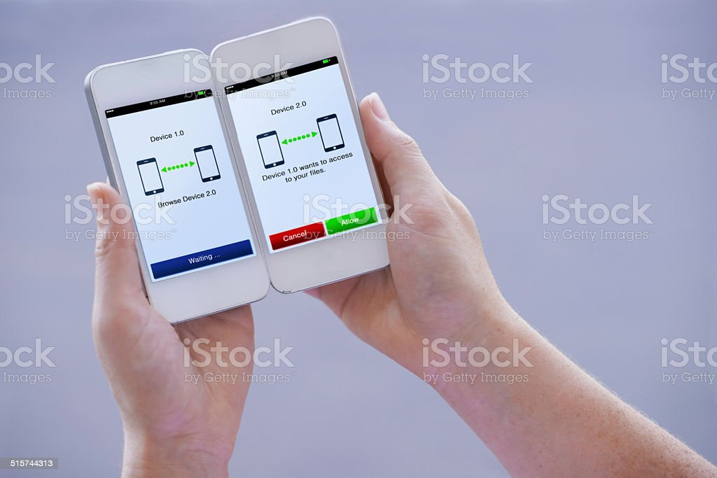 Sharing files is easier than 1... 2... 3! stock photo