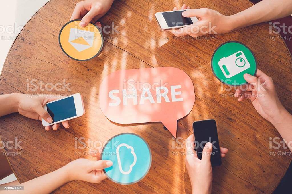 Sharing files stock photo