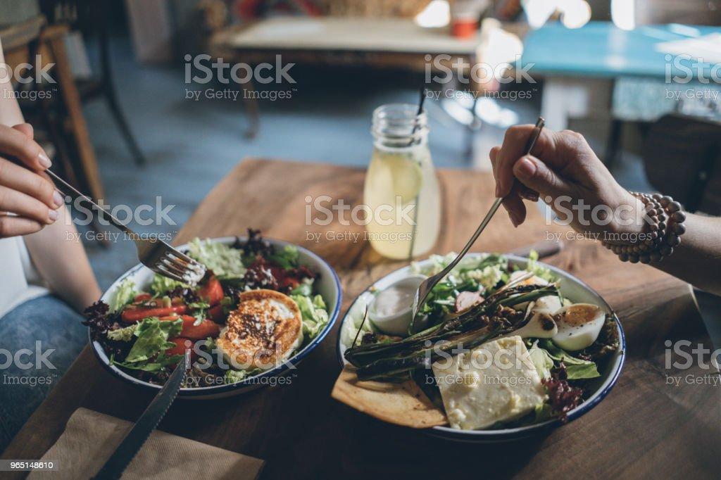Sharing food royalty-free stock photo