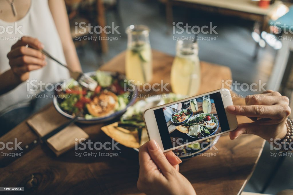 Sharing food stock photo