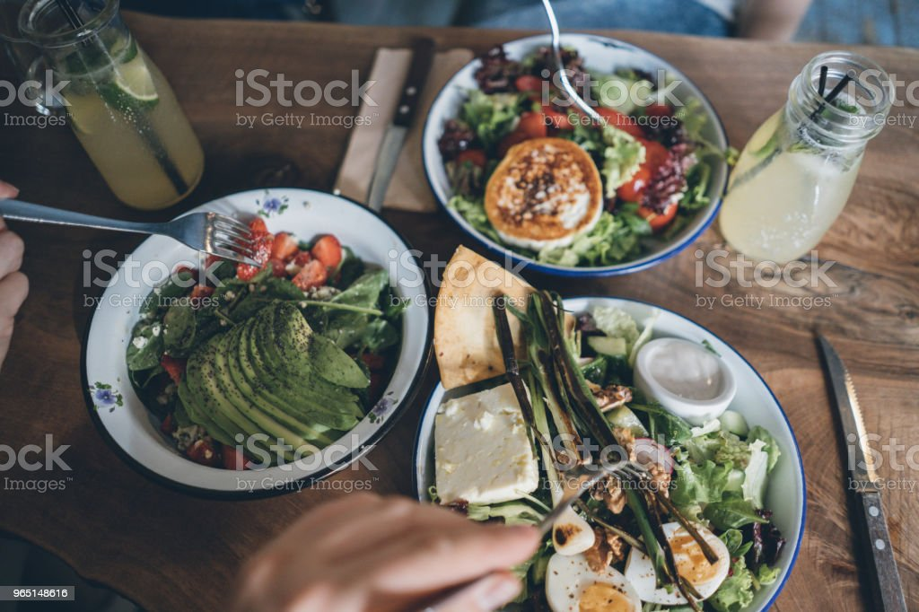 Sharing food royalty-free stock photo