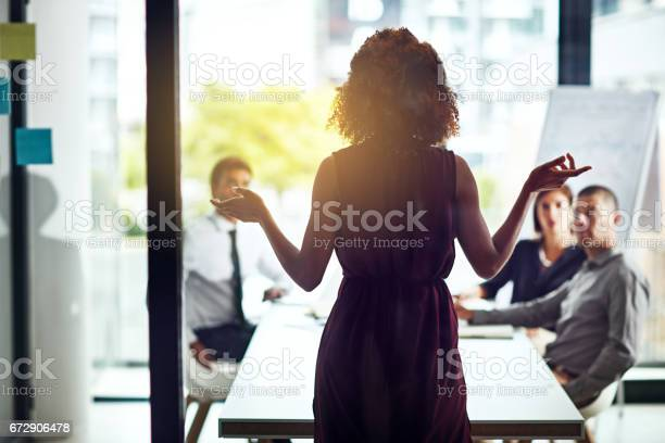 Sharing Her Vision For A New Business Venture Stock Photo - Download Image Now
