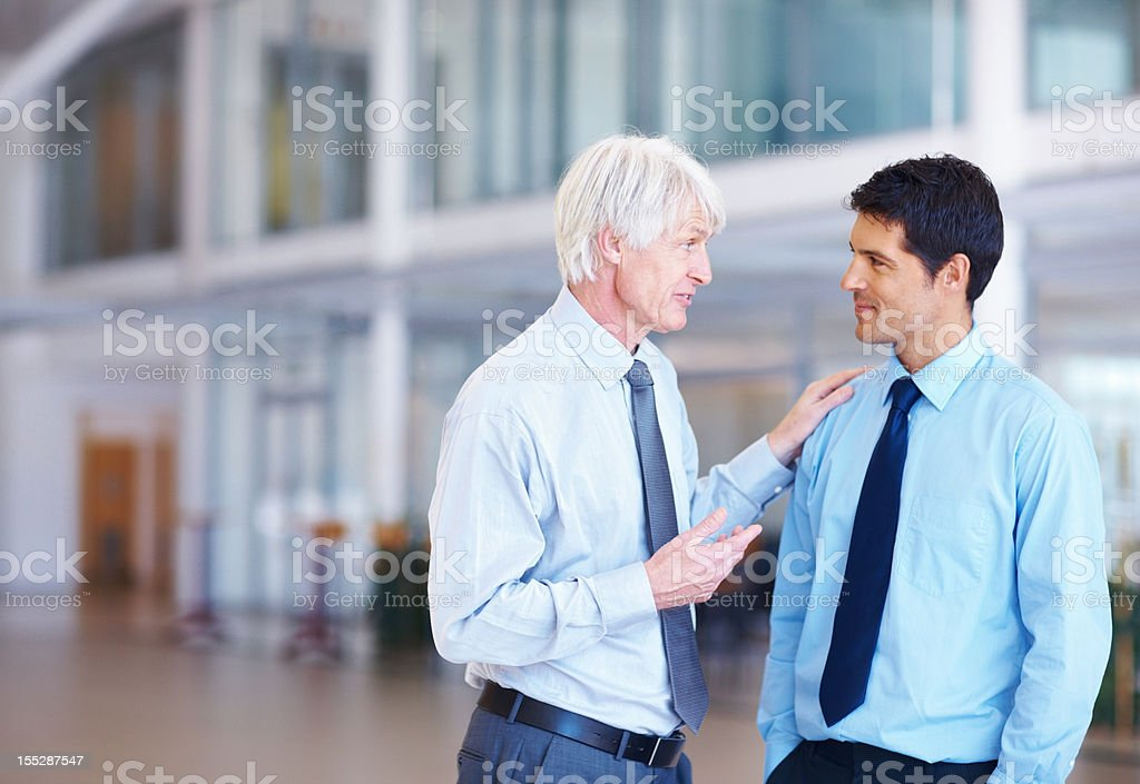 Sharing his experience - Copyspace stock photo