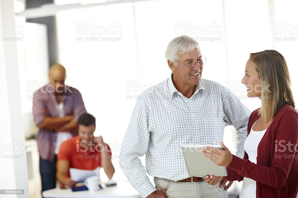 Sharing his extensive experience royalty-free stock photo