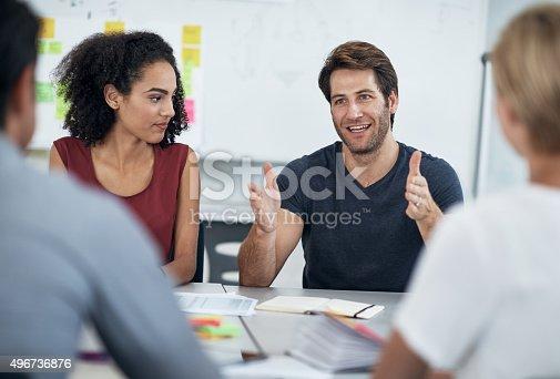 istock Sharing ideas, sharing success 496736876