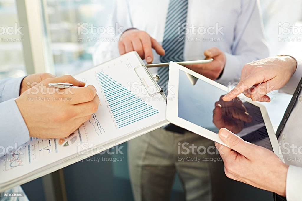 Sharing information royalty-free stock photo