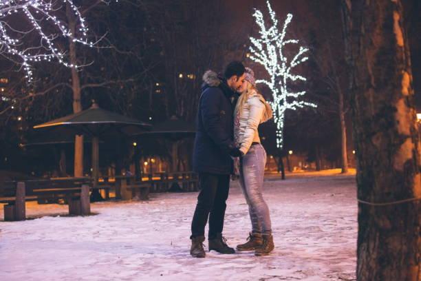 Sharing kisses stock photo