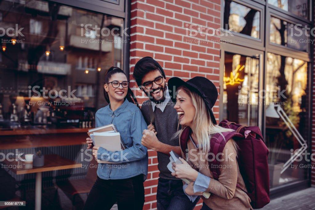 Austausch von lacht – Foto