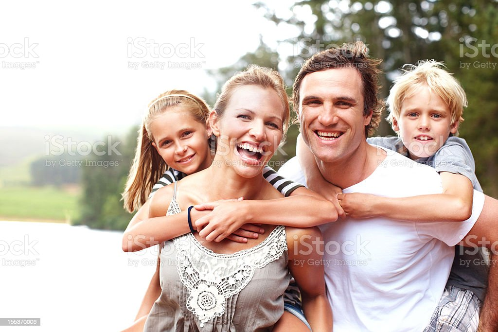 Sharing lots of love and laughter royalty-free stock photo