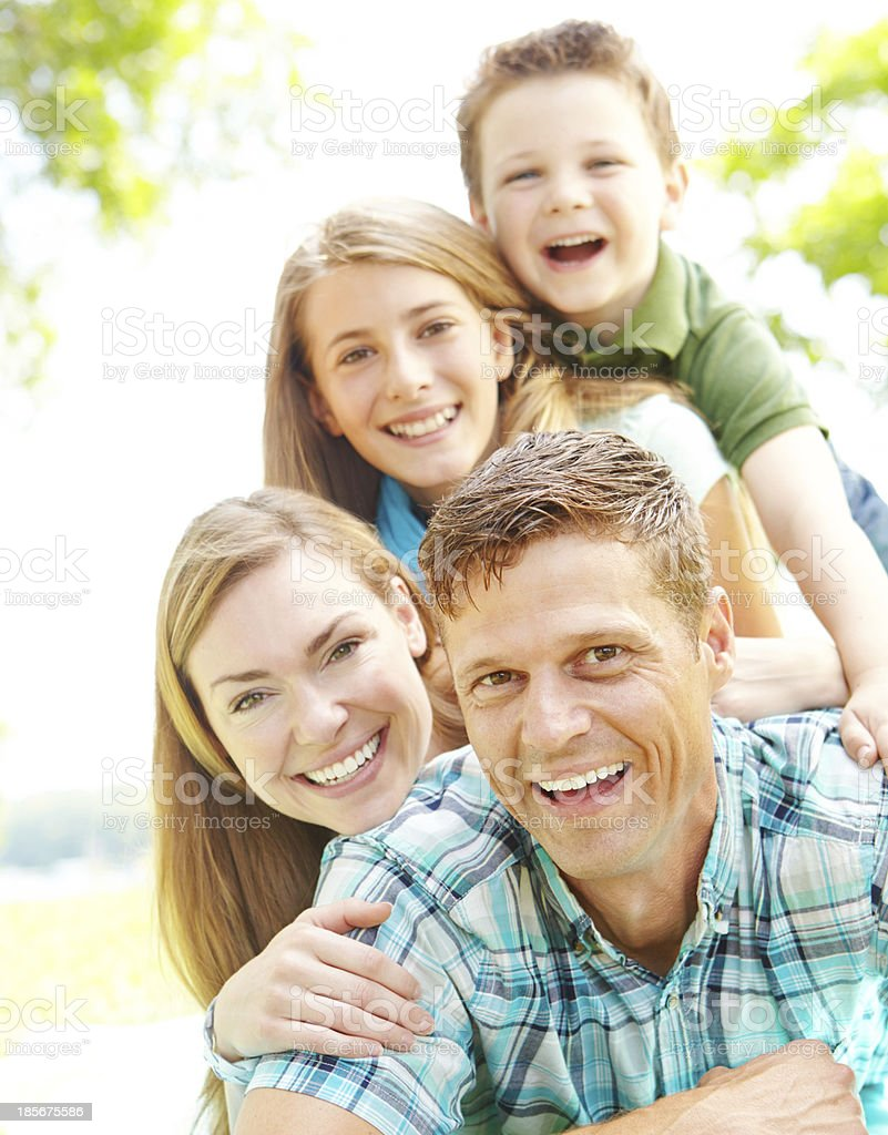 Sharing matching smiles royalty-free stock photo