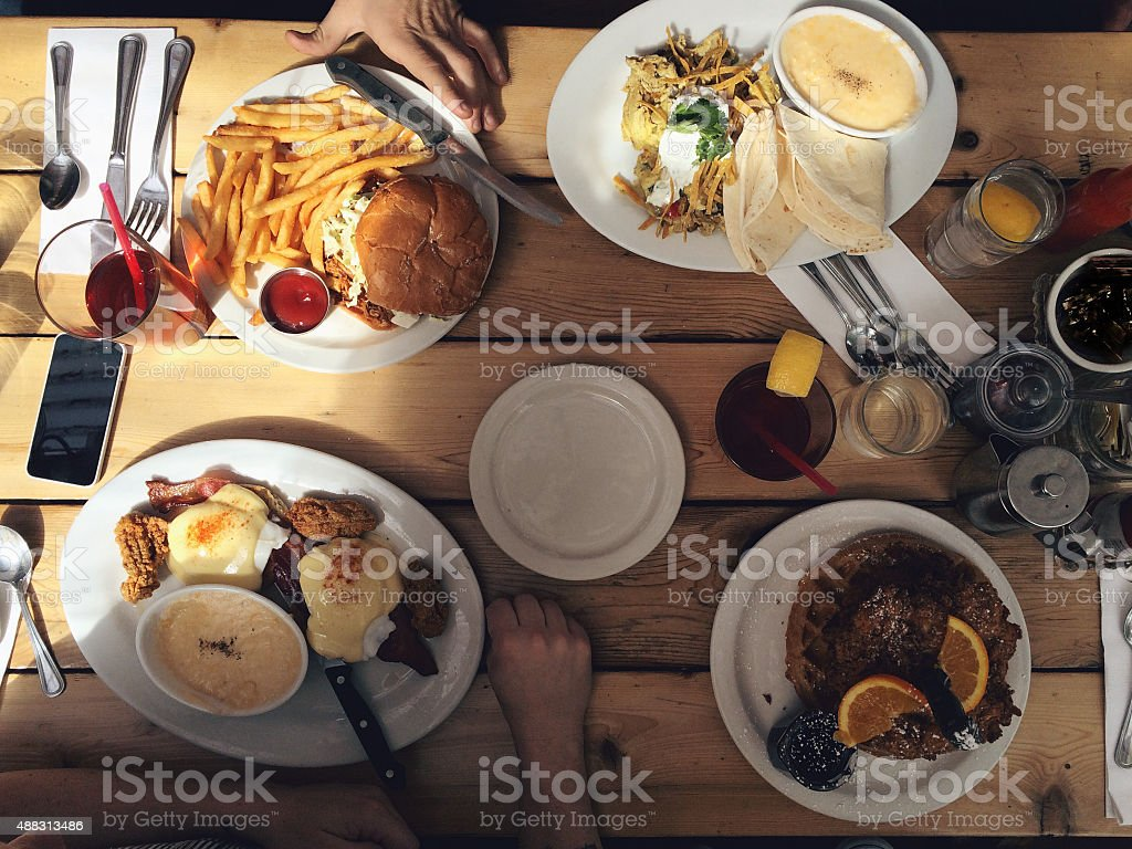 Sharing Meal Together Comfort Food stock photo