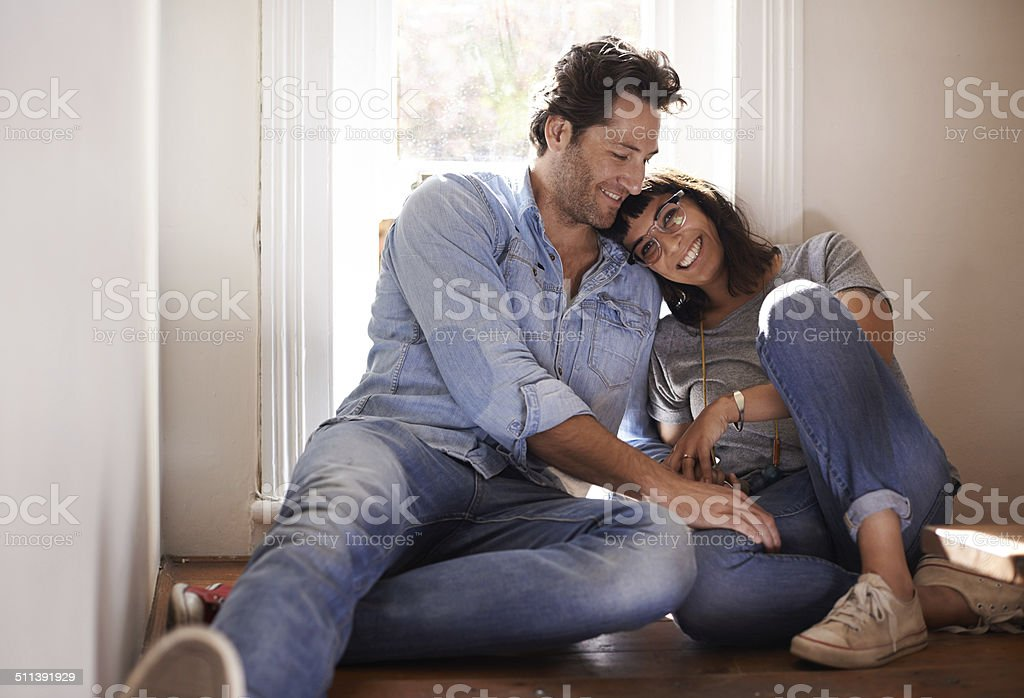 Sharing my life with my best friend! stock photo