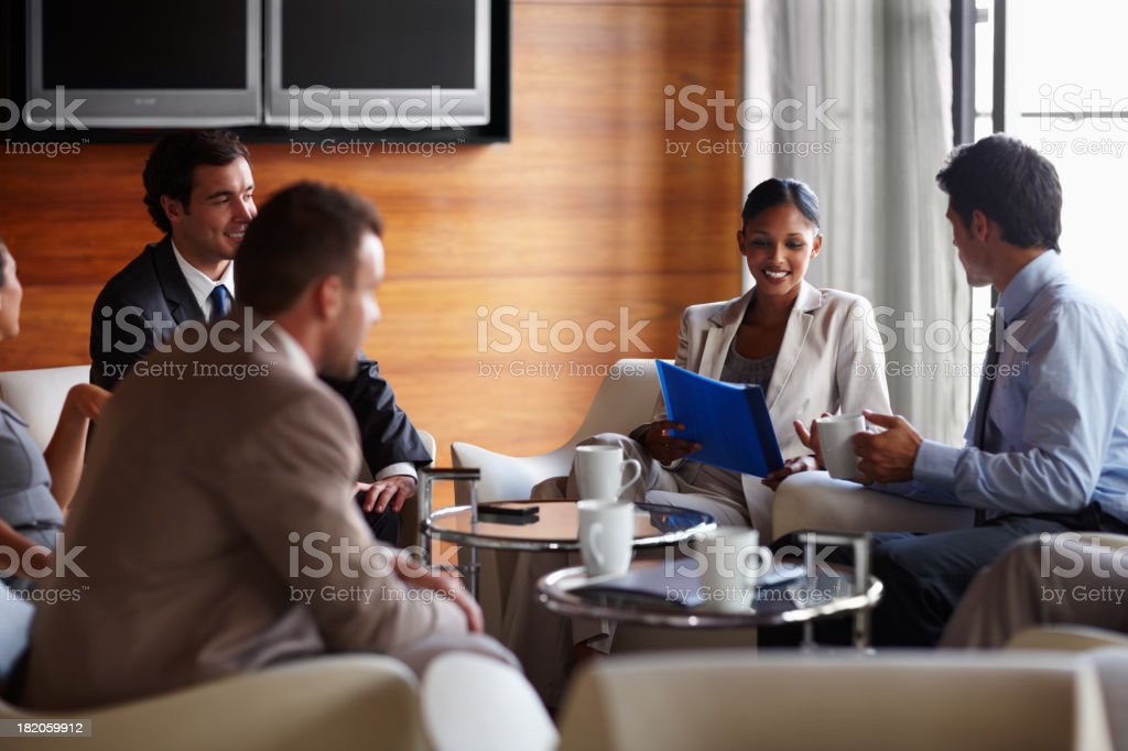 Sharing our business skills royalty-free stock photo