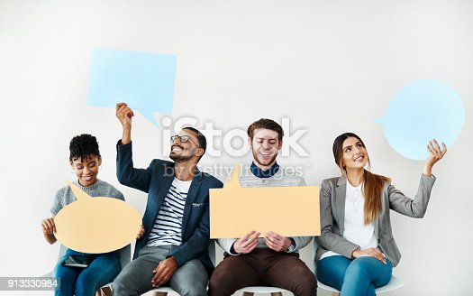 istock Sharing our opinions 913330984