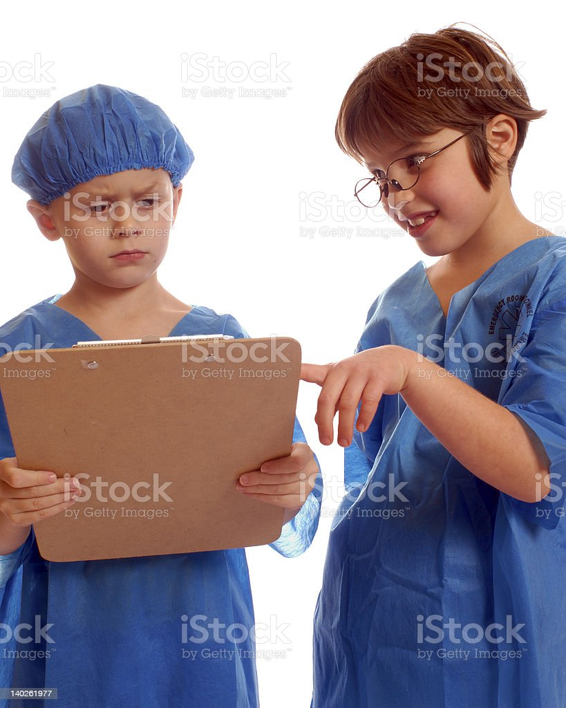 Sharing patient information royalty-free stock photo