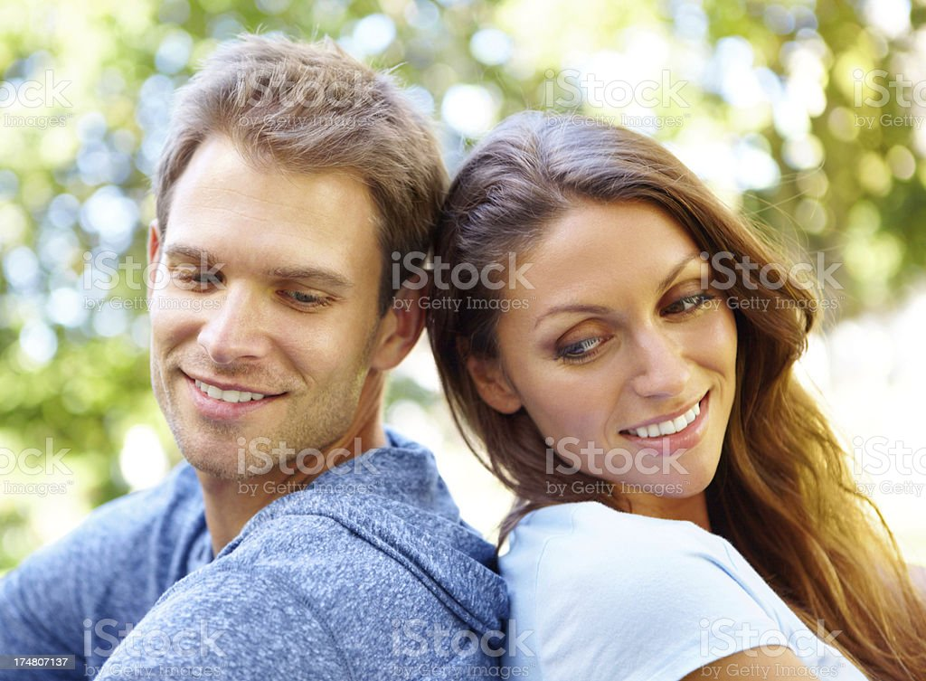 Sharing some time in the summer sun royalty-free stock photo