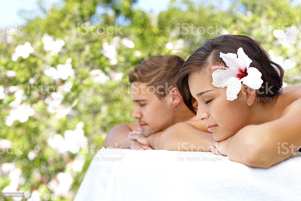 Sharing spa daydreams royalty-free stock photo