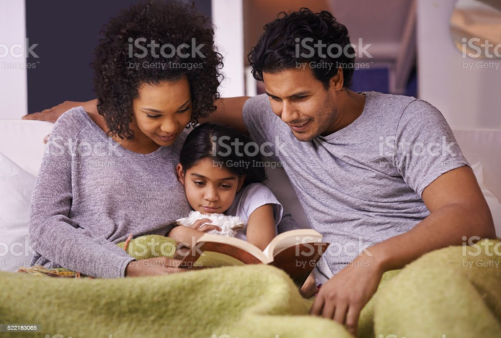 Sharing tender family moments stock photo