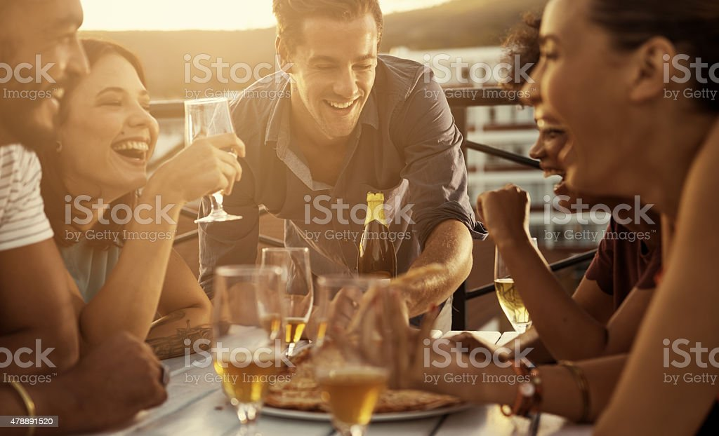 Sharing the best things in life stock photo