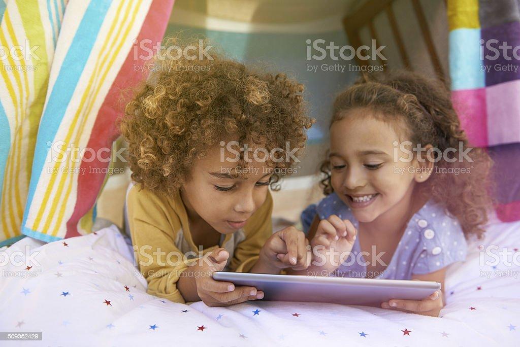 Sharing the fun stock photo
