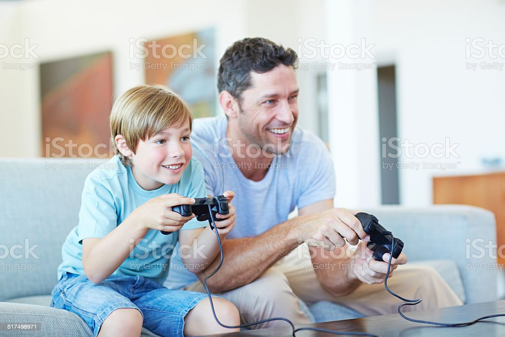 Sharing the gift of gaming stock photo