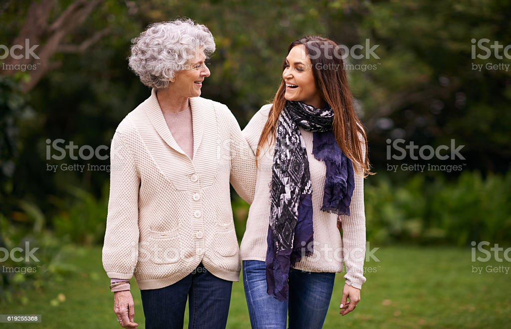 Sharing the perfect mother-daughter relationship stock photo