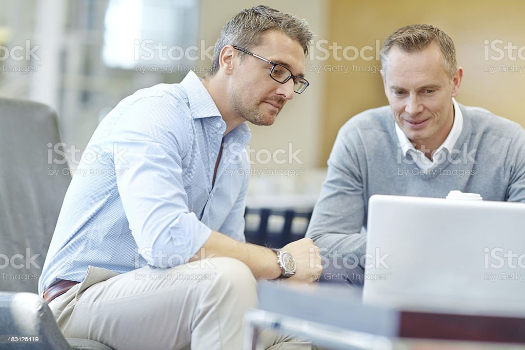 Sharing their corporate ideals stock photo