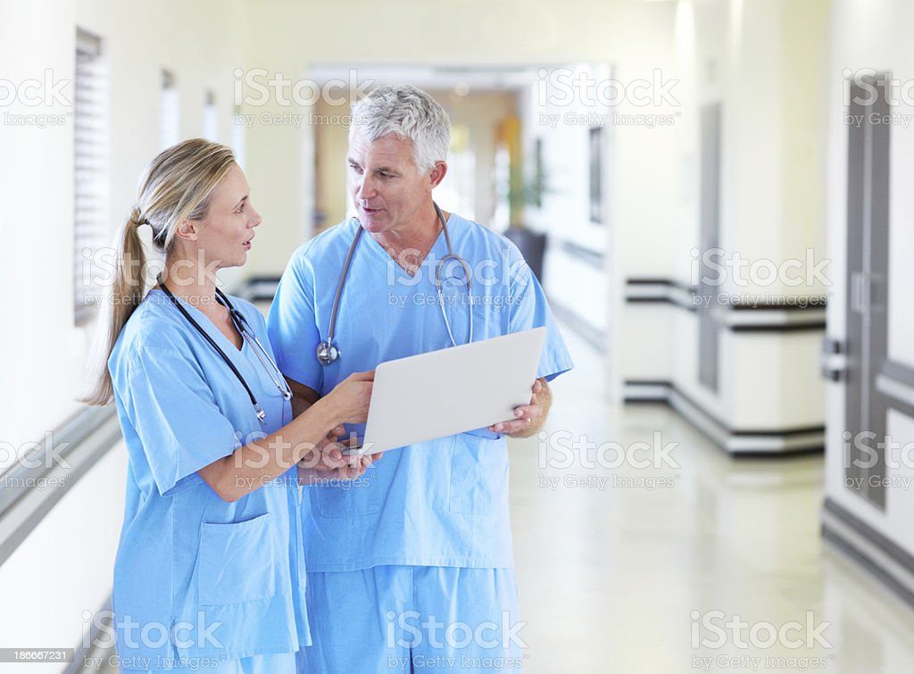 Sharing their medical opinions royalty-free stock photo