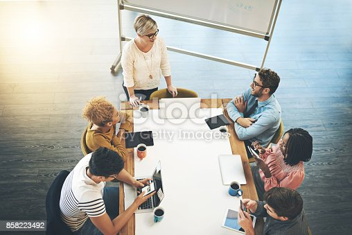 istock Sharing their thoughts as a team 858223492