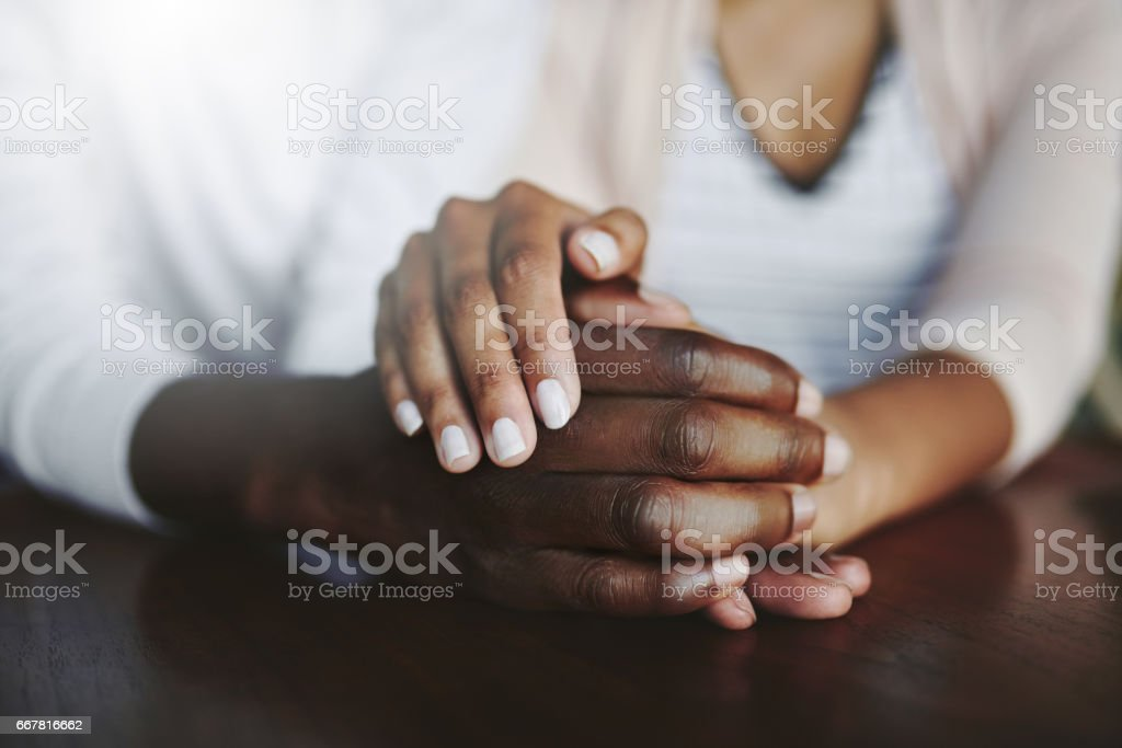 Sharing unconditional love and support stock photo