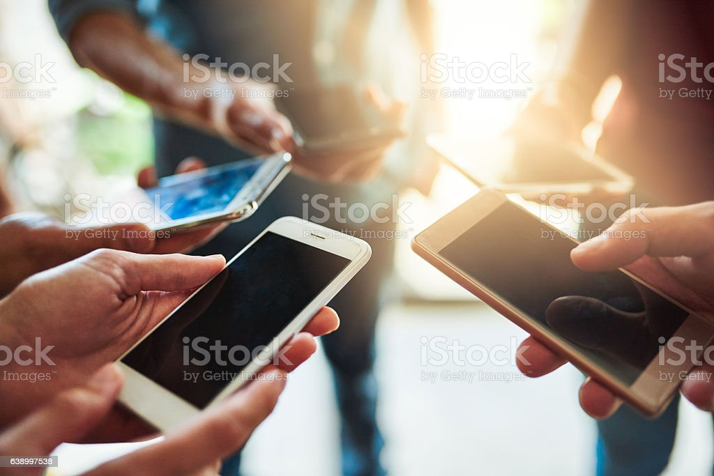 Sharing your details has never been easier stock photo