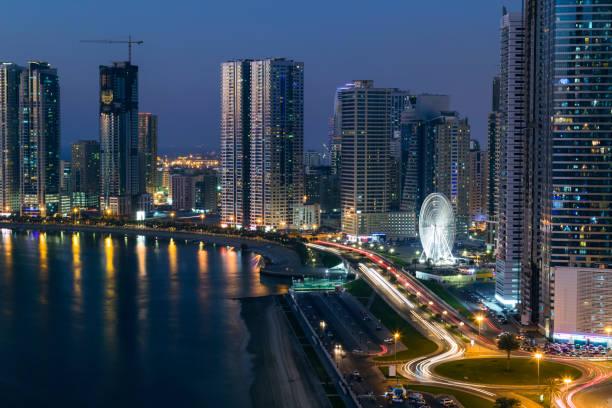 Sharjah, Al Khan Corniche Street stock photo