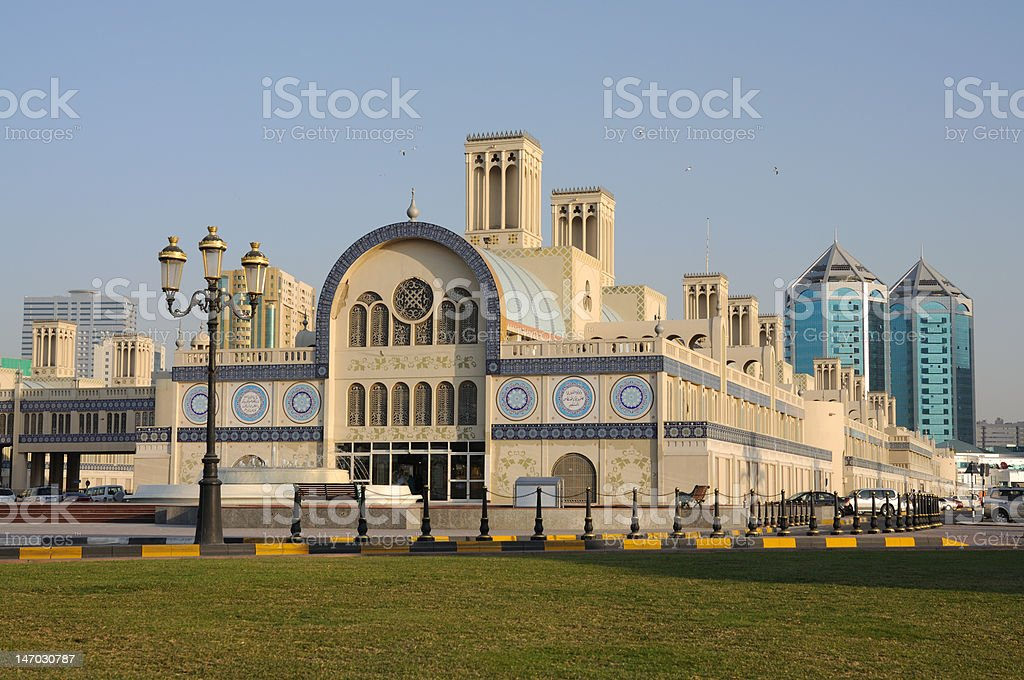 Sharjah Central Souq stock photo