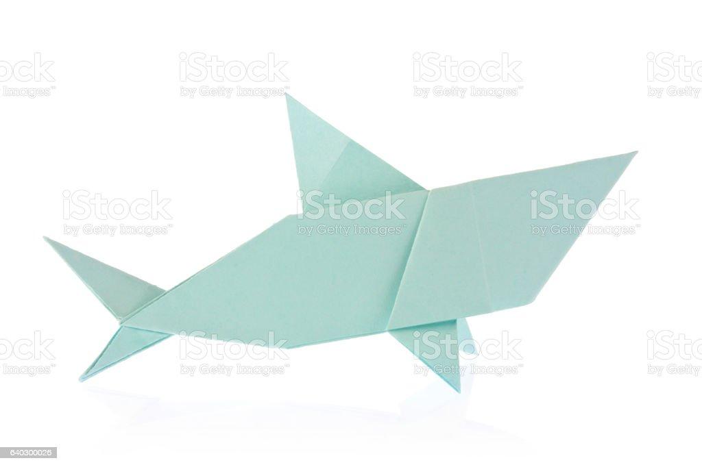 Shark of origami stock photo