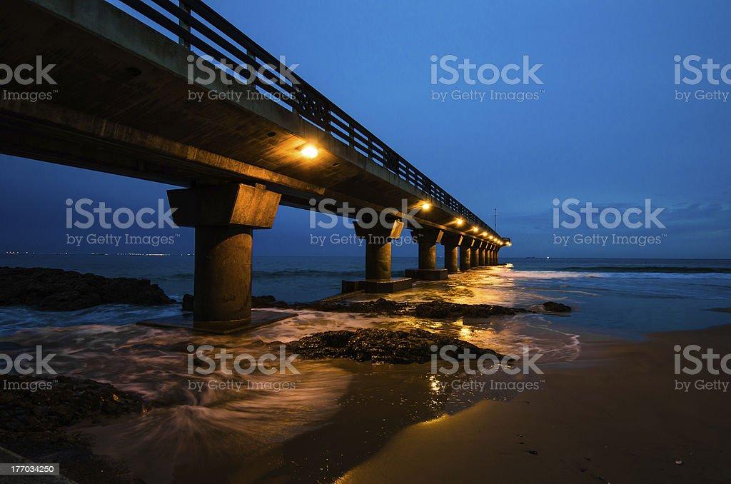 Shark Rock Pier at Sunrise stock photo