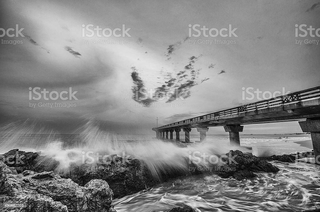 Shark Rock Pier Port Elizabeth stock photo
