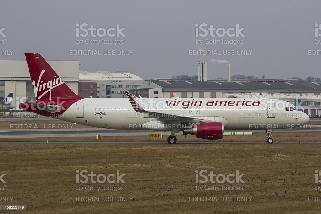 A320-200 Sharklets Virgin America D-AXAL stock photo