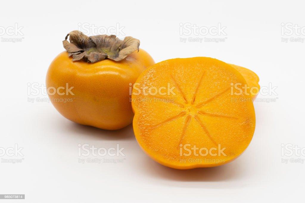 sharon, kaki or persimmon stock photo