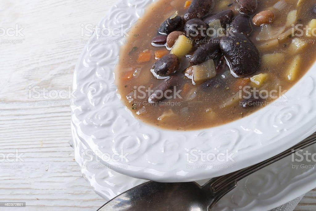 sharp bean soup stock photo