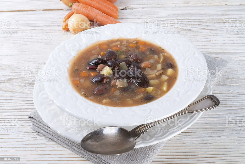 sharp bean soup stock photo