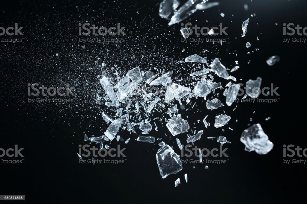 Sharp broken crystals - foto de stock
