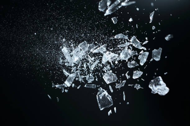 Sharp broken crystals stock photo